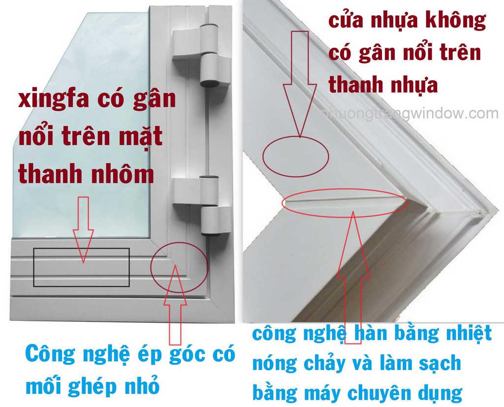 Ưu nhược điểm cửa nhôm xingfa và cửa nhựa lõi thép