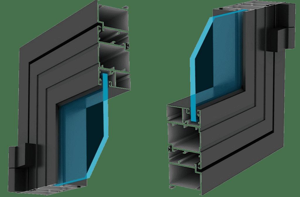 Mặt cắt cửa nhôm xingfa hệ S5
