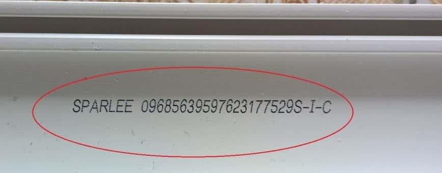 Mã code điện tử trên thanh nhựa sparlee