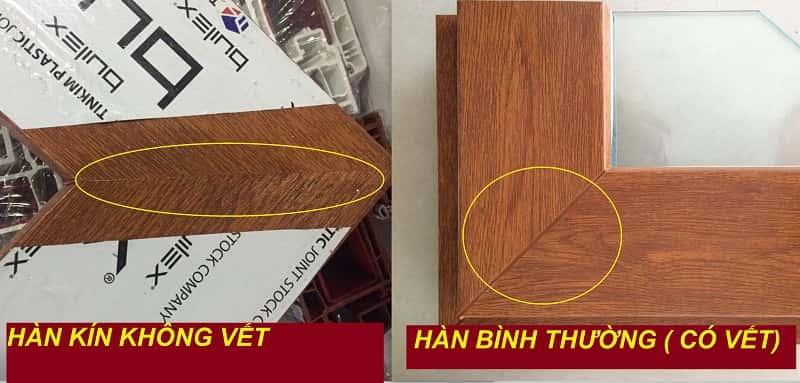 mẫu cửa nhựa lõi thép vân gỗ