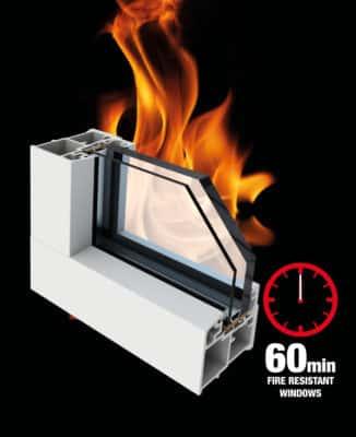 cửa nhựa lõi thép chống cháy