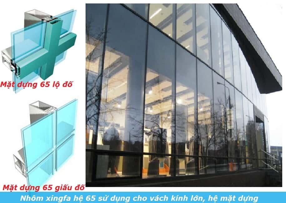 Nhôm Xingfa hệ 65 cho công trình hiện đại