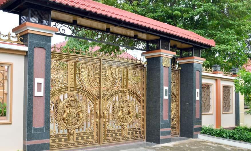 cổng nhôm đúc tphcm