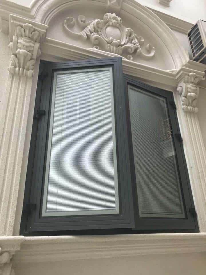cửa nhôm cao cấp xingfa kính hộp có rèm