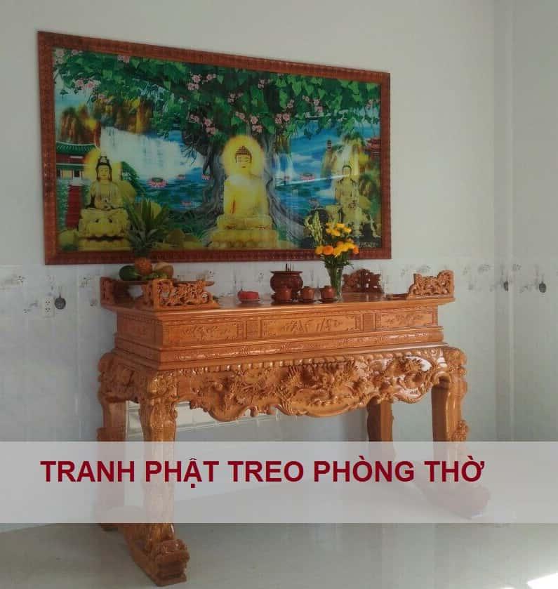 tranh đức Phật treo phòng thờ