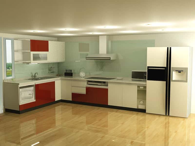Kính màu ốp bếp tại tphcm