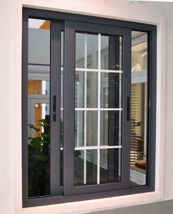 Cửa sổ nhôm Xingfa cao câp màu đen