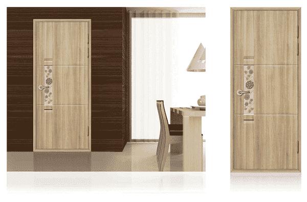 Cửa nhựa lõi thép Hàn Quốc giả gỗ cho phòng làm việc
