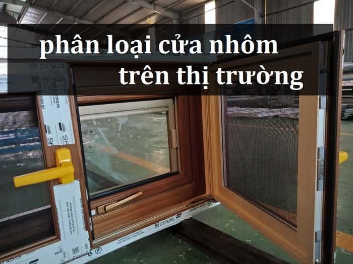 phân loại cửa nhôm trên thị trường