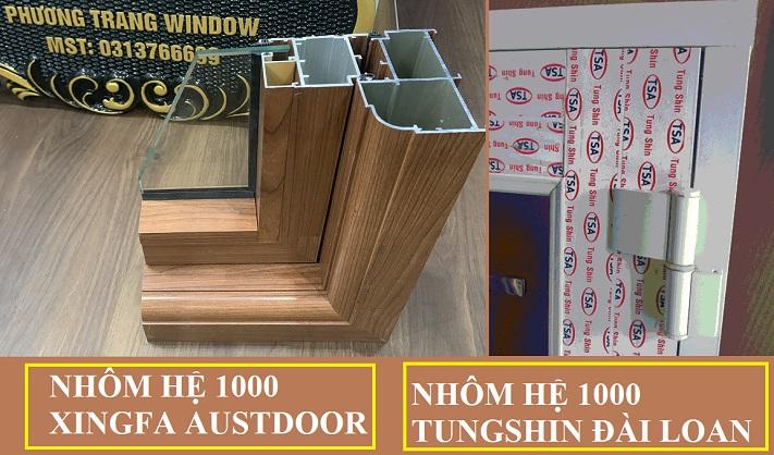 nhôm xingfa hệ 1000 và nhôm hộp hệ 1000 Đài Loan