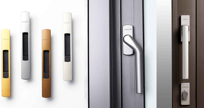mẫu phụ kiện cửa nhôm đa dạng màu sắc