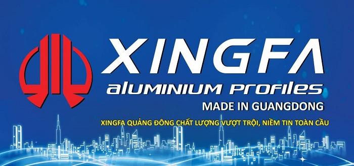 Nhôm hệ vát cạnh Xingfa 55